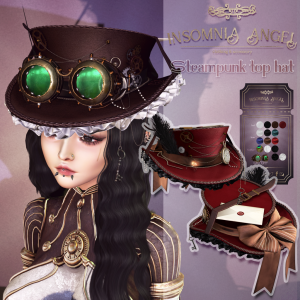 Insomnia Angel . steampunk top hat AD