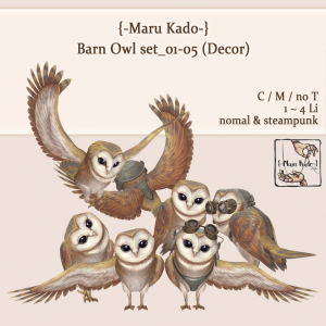 {-Maru Kado-} Barn Owl set_01-05 (Decor)
