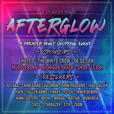 Afterglow July Round Poster