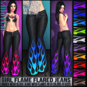Sn@tch Girl Flame Jeans Vendor Ad SM