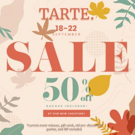 tarte. fall sale – 50% off storewide!