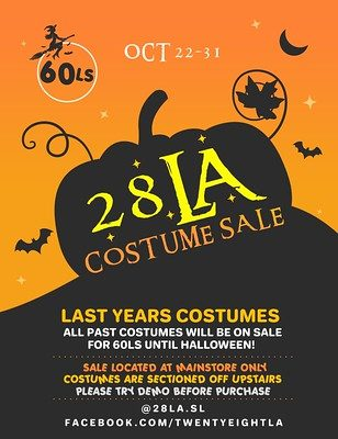 28LA – 2019 Costume Sale