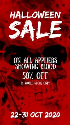 Flaws – 50% off All Bloody Appliers