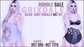 Grixdale – 50% off Bundles Sale