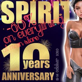 Spirit – 10 th Anniversary 60% off Sale