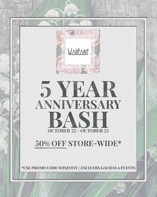Warpaint – 5th Anniversary Sale