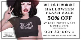 Witchwood – Hallween Sale
