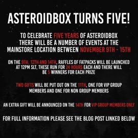 Asteroidbox anniv