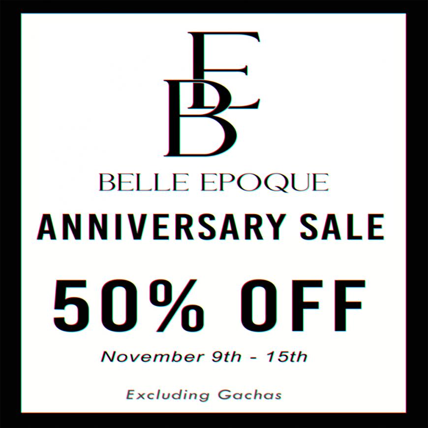 Belle Epoque Anniversary 50% OFF SALE