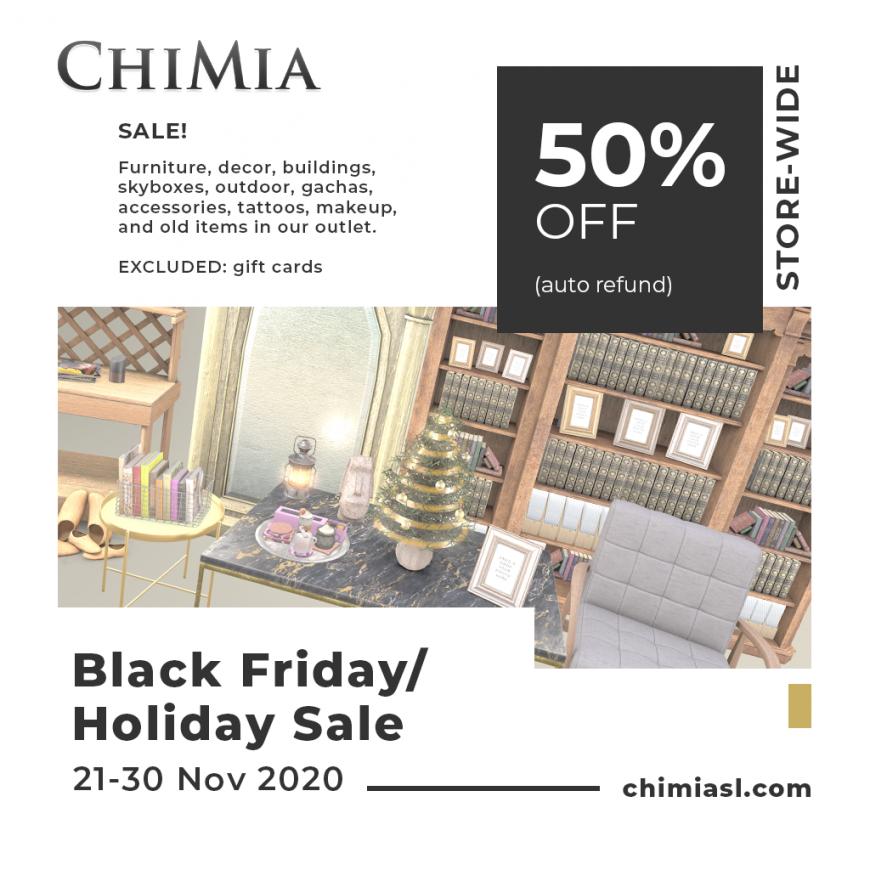 ChiMia Black Friday 21-30 Nov 2020 Sale half off