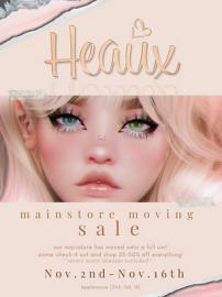 Heaux – Moving Sale