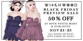 Witchwood- Black Friday Preview Sale