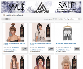 Alantori – L$99 Hair Sale