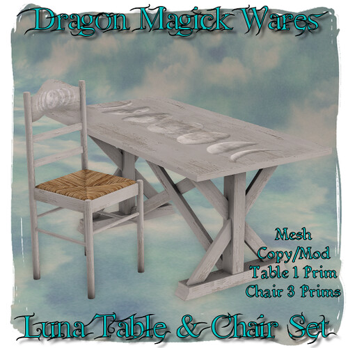 Dragon Magick Wares - Group Gift - Free - Table and Chair