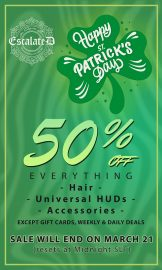 Escalated – St. Patty's Sale