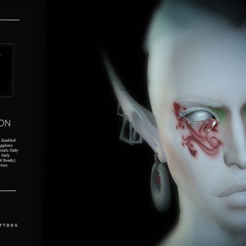 Nefekalum - Group Gift - L$1 - Under Eye Tattoo