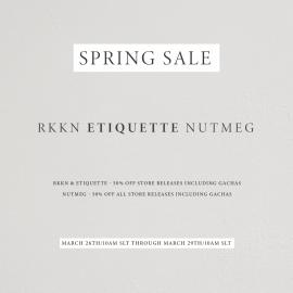 RKKN- ETIQUETTE – NUTMEG SPRING SALE