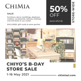 ChiMia store sale May 2021