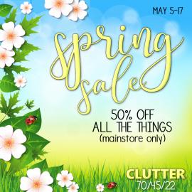 Clutter – Spring Sale 2021