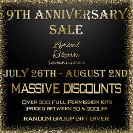 !Lyrical B!zarre Templates! – 9th Anniversary Sale Poster jpg