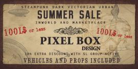 SUMMER SALE PIXEL BOX Design INWORLD AND MARKETPLACE